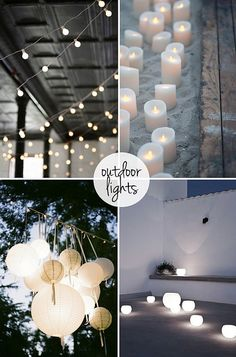 Having a party outdoors? Here are some of the best ways to keep the party bright and lively, till all hours of the night!