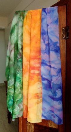 Echarpes coloridos