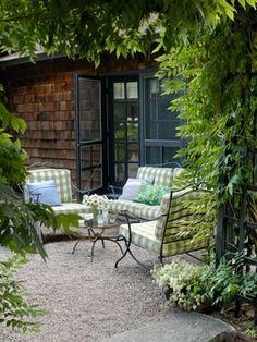 Pea Gravel & Furniture