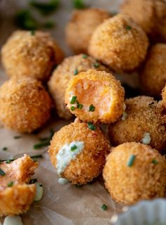 Pimento Cheese Poppers Fried Goat Cheese, Pimento Cheese Recipes, Ranch Recipe, Cheese Bites, Fresh Chives, How Sweet Eats, Side Dish Recipes, Side Dishes, Finger Foods