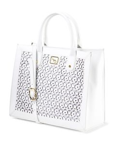 Leather Perforated Tote - Totes - T.J.Maxx