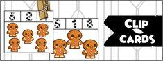 FREE Snowmen Clip Cards #'s 1-10 - preKautism.com