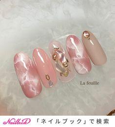 春/夏/オールシーズン/オフィス/シェル - Lafeuille(ラ・フィーユ)のネイルデザイン[No.4303591] ネイルブック Trendy Nail Art, Cute Nail Art, Gel Nail Art, Korean Nail Art, Korean Nails, Nail Swag, Marble Nail Designs, Nail Art Designs, Heavenly Nails