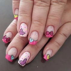 Discover new and inspirational nail art for your short nail designs. Pink Glitter Nails, Gold Nails, Nail Pink, Ombre Nail, Red Nail, Nail Nail, Cute Nail Art, Cute Nails, Pretty Nails