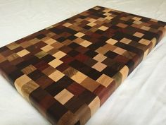 Patchwork Handmade End Grain Cutting Board with by Legalwoodworks