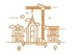 Site is under construction illustration by Mateusz Urbańczyk #Design Popular #Dribbble #shots