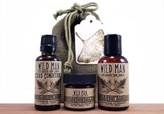 Men's Beard cream and wash by Wild Man!