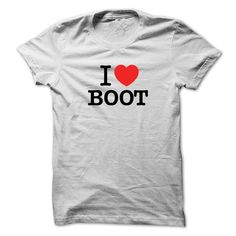 I Love BOOT T-Shirts, Hoodies. CHECK PRICE ==► https://www.sunfrog.com/LifeStyle/I-Love-BOOT.html?id=41382