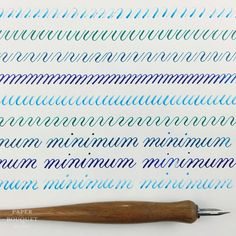 Shades of Blue Calligraphy Drill Practice | Paper Bouquet Studio #calligraphy #handlettering #calligraphypractice