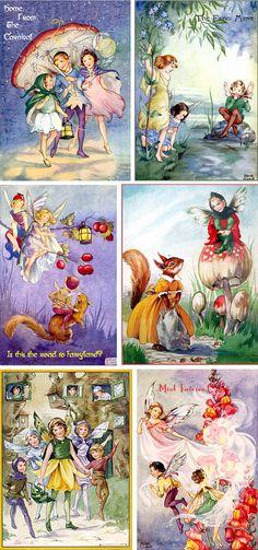 Vintage Illustration Fairy & Flowers All the best vintage illustrations of yesteryear preserved at vintagebookillustrations.com