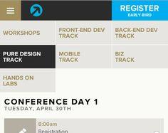 Responsive tabs/secondary nav http://futureinsightslive.com/las-vegas-2013/schedule/