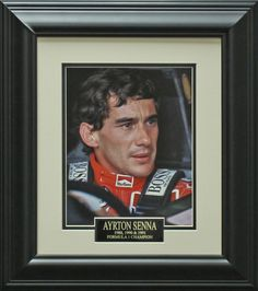 Ayrton Senna Photo Matted and Framed