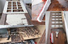bielenie starej wiejskiej szafy
