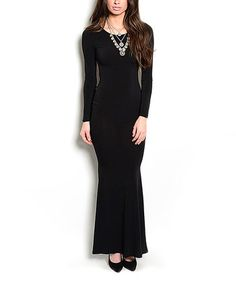 This Black Open-Back Gown is perfect! #zulilyfinds