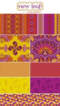 """""""New Leaf"""" fabric collection by Jan DiCintio from Daisy Janie"""