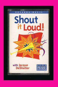 HOSANNA MUSIC - Shout It Loud (1998 Cassette Tape VG) Praise Worship CCM OOP #Christian