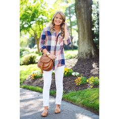 Instagram~ @whatcourtwore// Plaid tunic from The Pink Lilly Boutique // Outfit details-  www.liketk.it/2lUG0