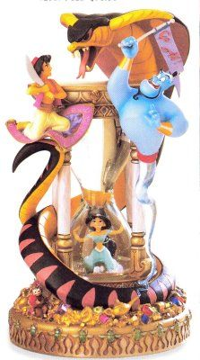 jasmine and aladdin globes | Disney Snowglobes Collectors Guide: Aladdin Hourglass Snowglobe