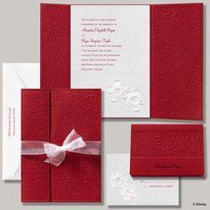 elegant princess themed wedding invitation | Disney fairy tale wedding: Snow white