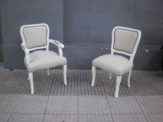 silln y silla estilo francs laqueado aprigliano muebles