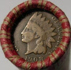 WHEAT ROLL + 1908 INDIAN HEAD CENT + 1943-P AU STEEL WHEAT CENT + 3 BONUS COINS