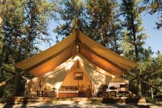 The Blackfoot Glamping site in Montana, it has heated floors!