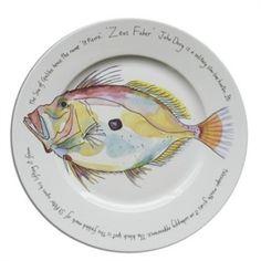 Jersey Pottery - Large Presentation Plate - John Dory