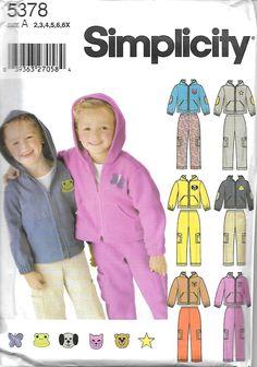 Simplicity 5378 Children's Pants And Jacket Pattern, Appliques, Size 2-6X, UNCUT by DawnsDesignBoutique on Etsy