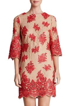 Dress the Population 'Melody' Lace Shift Dress available at #Nordstrom