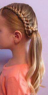 Peinado con trenza para niña.