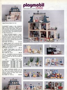 Playmobil Victorian House, this was my favourite thing as a child! Victorian Manor, Victorian Dollhouse, Childhood Toys, Childhood Memories, Playmobil Sets, Right In The Childhood, Lego, Christmas Catalogs, Toy Rooms