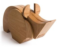 #wooden #toy #ecotoy #natural #design #modular #rhino #wodibow