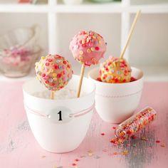 KONFETTI-POPS Cupcakes, Cake Cookies, Karneval Snacks, Cake Pops Stiele, Donut Maker, Cake & Co, Snacks Für Party, Macaron, Healthy Kids