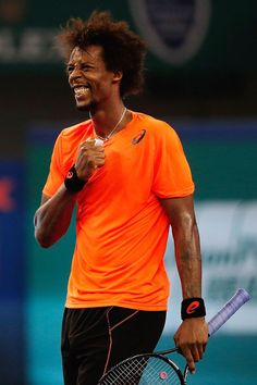 Gael Monfils beats Roger Federer 64 63 at the Shanghai Open. Truly a Gael Force Win! Gael Monfils, Still I Rise, History Images, People Of Interest, Roger Federer, Photo Quotes, Tennis Players, Black People, Black History