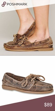 NWOT Bed Stu for Free People distressed boat shoes Brand new without tags! Gorgeous Bed Stu for Free People distressed leather boat shoes. Fit true to size. Bed Stu Shoes Flats & Loafers