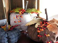 No-Sew Fabric Pumpkins: Make a fabric pumpkin using a shirt, coat or sweater from your own closet—no sewing machine required.  #Halloween #pumpkin #craft