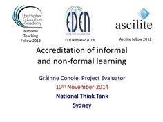 Accreditation of Informal & Non-formal learning