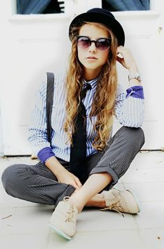 18. Dandys style ~ #kobieta_z_charakterem | #back #in #the #men #world | Stylówka by Zuuppa-4U ;) #dandys #style #black #hat #woman #clasically