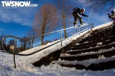 Chris Grenier  Photo: Andy Wright  Wallpaper Wednesday: The city is always awake | Photos | TransWorld SNOWboarding