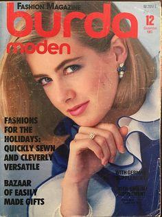 December 1983 Burda Moden Fashion Magazine and Sewing Patterns