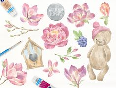 Fairytale Watercolor Collection by Julia Dreams on @creativemarket