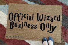 Official Wizard Business Only Coir Funny Doormat, Size Large - Welcome Mat - Doormat - Custom Hand Painted Doormat. Porch Mat, Walmart Deals, Funny Doormats, Welcome Door Mats, Personalized Door Mats, Indoor Rugs, Door Signs, Design Your Own, Just In Case