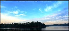 Nuvens sobre a represa Guarapiranga ao amanhecer...