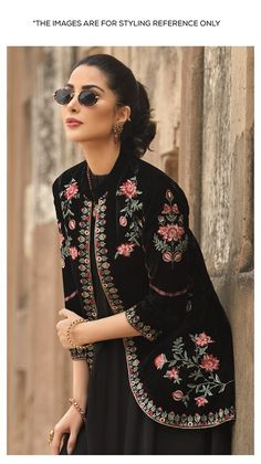 Nishat Linen Winter Formal Dresses Velvet Shawls & Jackets consists of embroidered heavy embellished velvet shawls, jackets, suits, shirts Pakistani Dresses Casual, Indian Fashion Dresses, Pakistani Dress Design, Indian Designer Outfits, Formal Dresses, Velvet Pakistani Dress, Pakistani Bridal, Indian Outfits, Fashion Outfits