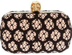 Alexander McQueen honeycomb skull clutch on shopstyle.com