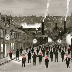 It's hard not to like Sid Kirkham's artwork for a number of reasons. It usually features nostalgic football scenes of fans going to or from games. Stoke City, Stoke On Trent, Local Artists, Back In The Day, Watercolour Painting, Cover Photos, Pottery Art, Fashion Art, My Arts