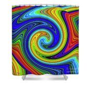 Sea Of Colors Shower Curtain by Bill and Deb Hayes