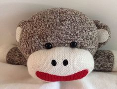 Baby Starters Sock Monkey Blanket Lovey Brown Red Toy Rattle Satin Security #BabyStarters