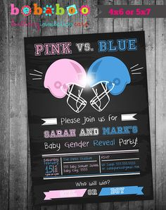 GENDER REVEAL/Gender Reveal Invitation/Baby Shower/Baby by bebaboo, €8.55