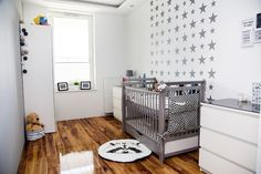 Blog wnętrzarski - design, nowoczesne projekty wnętrz: Pokój niemowlaka – biały, szary, gwiazdki